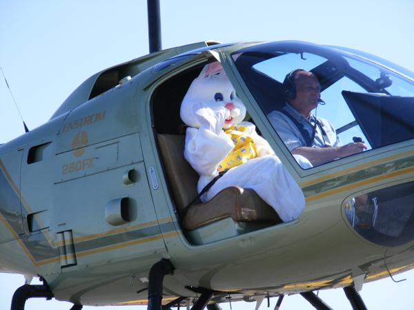 Easter Bunny Arrives by Helicopter!