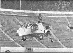 Stanley Hiller flying XH-44