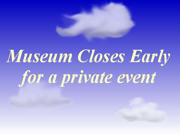 Museum Closes Early – Oct21 calendar