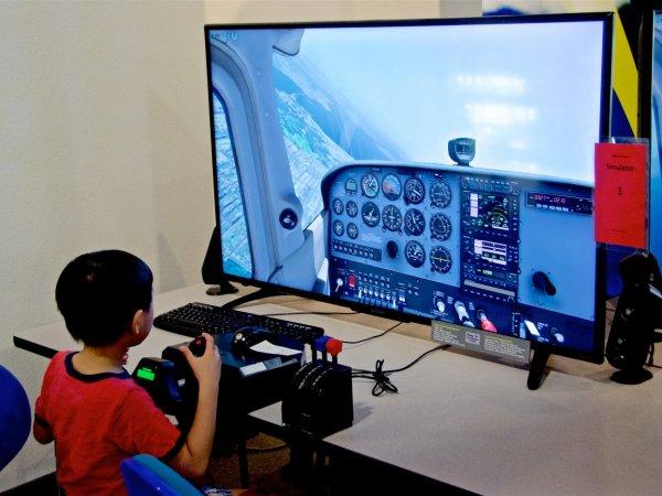 Flight Simulator Rally - Hiller Aviation Museum